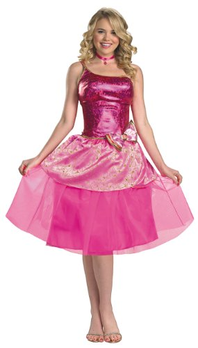 Womens Deluxe Barbies Princess Charm School Costume by Costume Craze