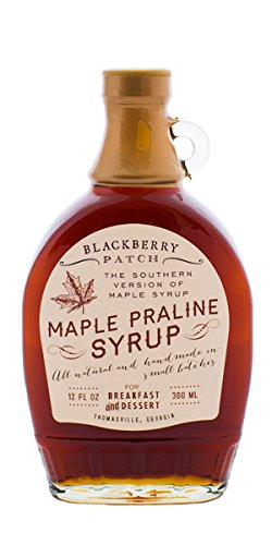 Maple Praline Syrup - All Natural And Handmade in Small Batches - 12 Fl Oz - BlackBerry Patch - The southern version of Maple Syrup