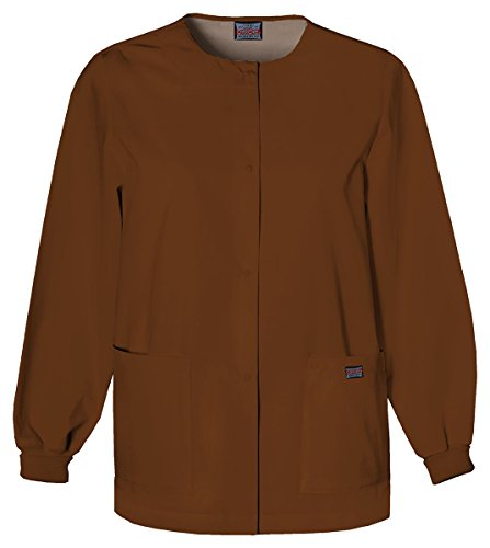 Cherokee Women's Snap Front Warm-Up Jacket_Chocolate_XXXXX-Large,4350