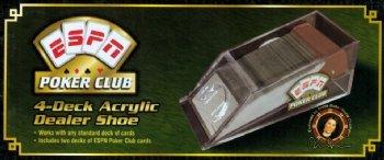 ESPN Poker Club FP20040 4-Deck Acrylic Dealer Shoe