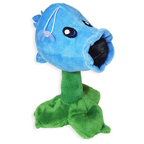 Pvz Ice Pea Shooter Cute Soft Snow Peashooter Plant Plush Toy Doll