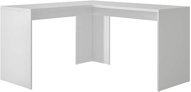 BRV Moveis Wood Computer Desk, White - H 78 cm x W 135 cm x D 143.5 cm