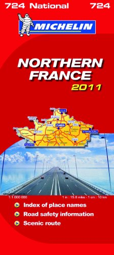 Northern France National Map 2011 2011 (Michelin National Maps)