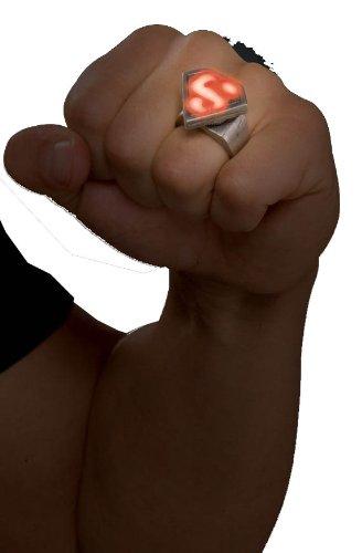 [Rubies Superman Metal LED Ring] (Scissors Paper Rock Costume)