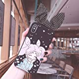 Twinlight for iPhone Xs Max Cute 3D Sailor Moon Bow Phone case for iPhone X XR XS 7 8 Plus Cartoon Girl Rabbit Ears Back Cover (Style14, for iPhone Xs Max)