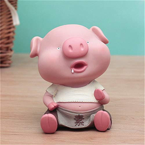 Figurines & Miniatures - Cute Pig Money Box Figurine Animal Piggy Bank Statues Silicone Art&Craft Home Decorations Creative Gift R385 - by GTIN - 1 Pcs - Chinese Pig Statue ()