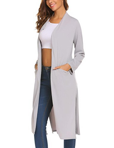 OD'lover Women's Open Front Long Trench Coat Casual Lightweight Blazer Cardigans by OD'lover (Image #4)