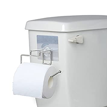 ezhome add toilet paper holder without making holes in your rv for rvsmall bathroom