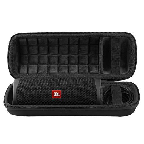 co2CREA Duro Viajar Fundas Caso Cubierta Estuche para JBL Flip 5 Altavoz Bluetooth Portátil (Exterior negro, interior…