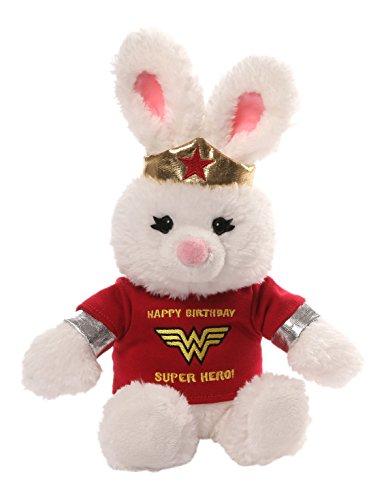 Gund Anya DC Comics Wonder Woman Happy Birthday T-Shirt Plush Bunny Plush