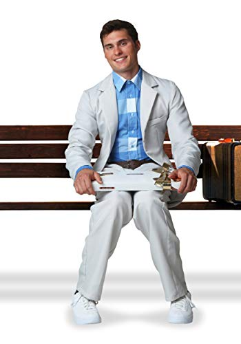 Forrest Gump Costume Suit Large White -