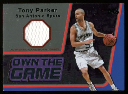 - 2006-07 Tony Parker Topps Own the Game Jersey Spurs Mint Condition