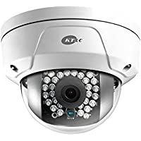 KNC-P3DR4IR KT&C 4mm 20FPS @ 2048x1536 Outdoor IR Day/Night Mini Rugged Dome IP Security Camera 12VDC/PoE
