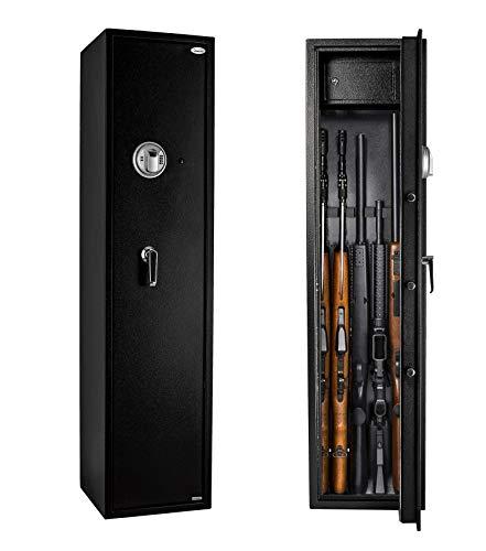 Rifle Safe Gun Safe Quick Access 5-Gun Shotgun Cabinet (Biometric/Digital) (Large Gun Safe-Biometric)