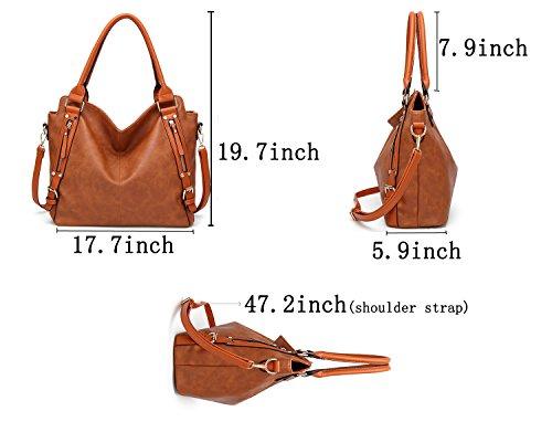 Lady Satchel Bag Hobo Obosoyo Handle Top Women Shoulder Tote Brown Messenger Purse Handbags OwqOXfatn