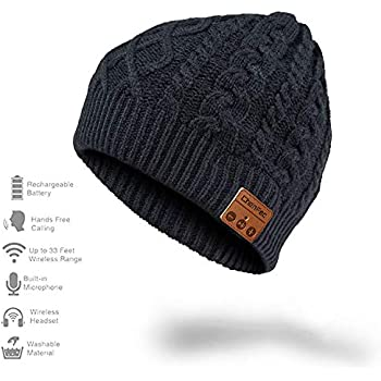 Amazon.com  Happy-top Bluetooth Music Soft Warm Beanie Hat Cap ... a7678673b6c