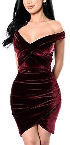 off the shoulder wrap dress - 5
