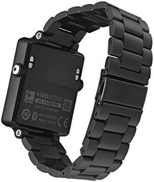 Garmin vívoactive Reemplazo Reloj Banda, kuxiu acero inoxidable pulsera de metal pulsera con enlace ajuste herramienta para Garmin vivocative ...
