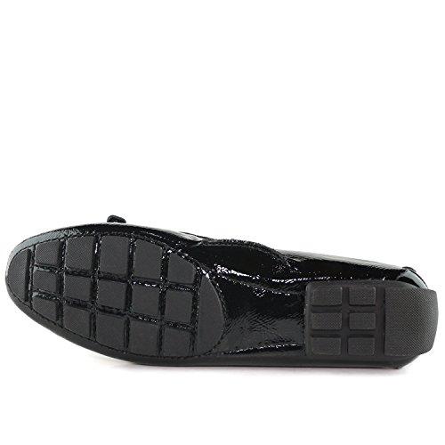 Echtes Leder der Frauen hergestellt in Brasilien-beiläufigen Cypress-Hügel-Fahrer Marc Joseph NY Fashion Shoes Schwarz Weiß Stingray