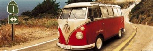 VW Californian Camper - Door Poster (Pacific Coast Highway) (Size: 62