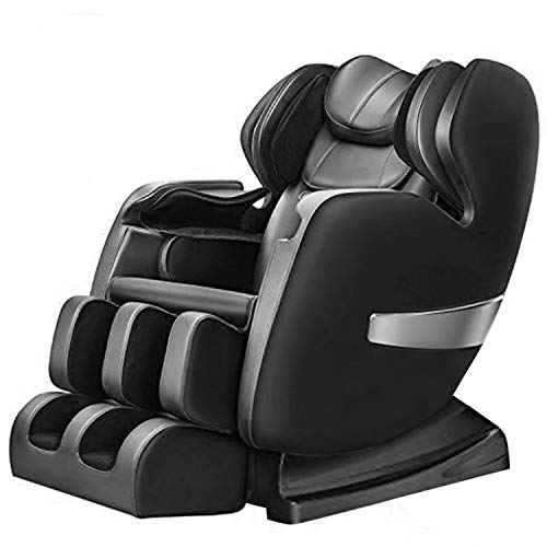Massage Chair Recliner, S-track Zero Gravity Full Body Shiatsu Luxurious Electric Massage Chair with Stretched Tapping mode Heating back and Foot Rollers Body Detection (Black) (Best Full Body Stretches)