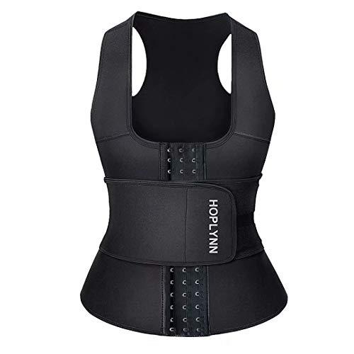 HOPLYNN Neoprene Sauna Sweat Waist Trainer Corset Trimmer Vest for Women Weight Loss, Waist Cincher Shaper Slimmer