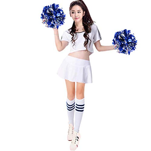 Adult Suit Cheerleader Costume Women Adult Cheerleading Party Dress Cheer Uniform Outfit Fantasy Baby 4 M ()