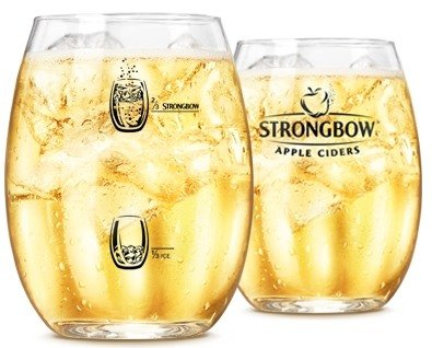 STRONGBOW CIDER GLASSES PINT, SET OF 6, 0.5 LITRE lined