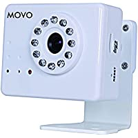 Movo NT3000 Wi-Fi Enabled IP Network Camera with Motion/Audio Detection & Day/Night Infrared (White)
