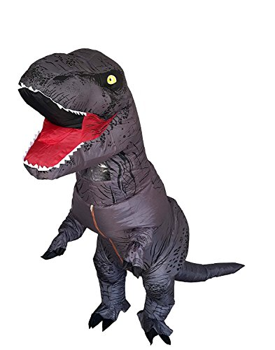 T-Rex Dinosaur Inflatable Costume Halloween Cosplay Blow up Outfit Fancy Dress with 2 Fan Blowers