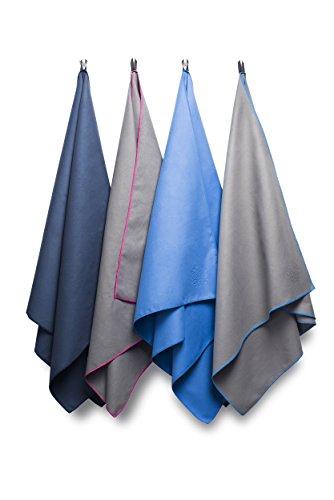 Bahidora Microfaser Handtuch in 2 Größen / 4 Farben. MikrofaserHandtücher, Reisehandtuch, Microfaser Badetuch, Sporthandtuch, schnelltrocknendes Handtuch. Inklusive Transportbeutel. Ideal für Sport und Reisen