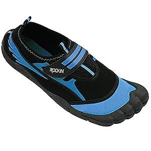 Rockin Footwear Mens Aqua Foot Water Shoes (11, Neon Blue)