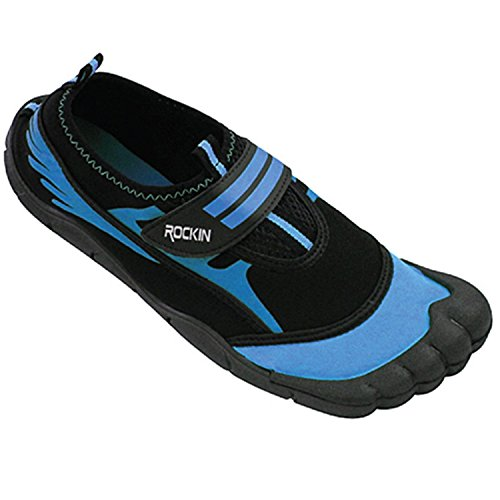Rockin Schoeisel Womens Aqua Foot Water Shoes Blue