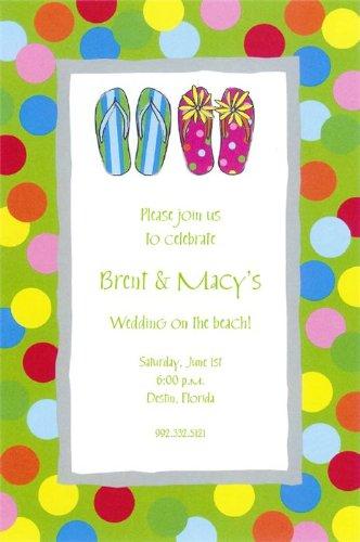 Amazon Com Flip Flops Wedding Invitations Health Personal Care