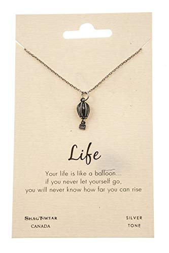 Shag Wear Inspirational Quote Pendant Necklace (Air Balloon Pendant)