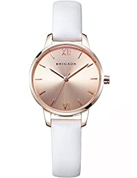 BRIGADA Swiss Brand Ladies Dress Quartz Wrist Watches for Women Girls Nice Fashion Rose Gold Women's Watch Waterproof