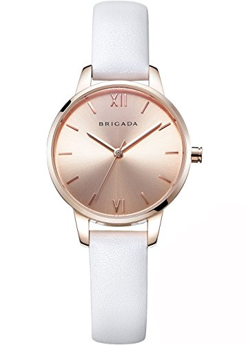 Nice Fashion Rose Gold White Ladies' Dress Quartz Wrist Watch, Swiss Brand Waterproof Comfortable Leather Band Women Watch