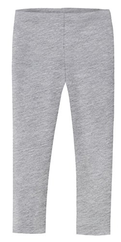 City Threads Girls' Leggings 100% Cotton for School Uniform Sports Coverage or Play Perfect for Sensitive Skin or SPD Sensory Friendly Clothing, Heather Gray, 3T]()