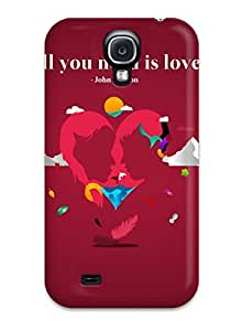 For Galaxy S4 Premium Tpu Case Cover All You Need Is Love Protective Case