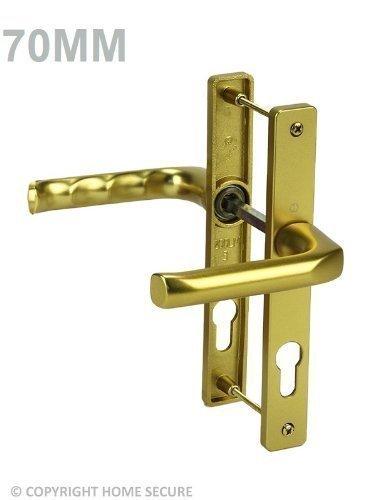 HomeSecure D58 - Picaporte con cerradura de llave para puerta de uPVC, color dorado