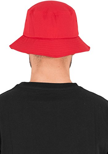 rojo Rojo Flexfit Sarga Bucket Hat Cotton Mütze gg4Yw