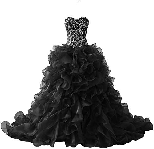 XSWPL 아름다운 헤비 비즈 오간자 퀸시네라 드레스 스위트 16 볼 가운 / XSWPL 아름다운 헤비 비즈 오간자 퀸시네라 드레스 스위트 16 볼 가운