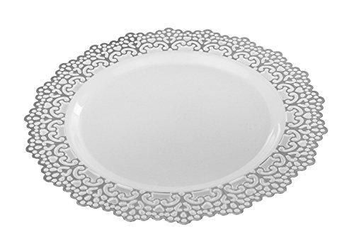 (Premium Decorative Plastic Dinnerware Plates - 7.5