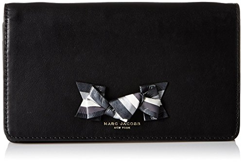 Marc Jacobs Bow On Chain Wallet, Black, One Size