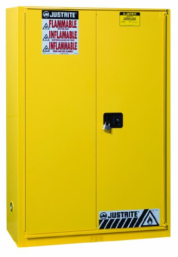 Justrite 894580 Sure-Grip Ex 45 Gallon, 44'' x 43'' x 18'' (H x W x D), B-Fold, Self Closing Flammable Safety Cabinet by Justrite