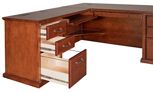 Kathy Ireland Home By Martin Huntington Oxford Office Left L-Shaped Desk, Burnish Finish by Martin Furniture (Image #4)
