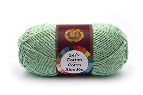 Cotton Yarn Crochet Patterns (Lion Brand Yarn 761-156 24-7 Cotton Yarn, Mint)
