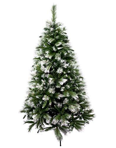Árbol de Navidad Artificial de Pino Maxi-Relleno Abeto Artificial C/Soporte Metálico 150-240cm (Nevado, 210cm 960Tips)