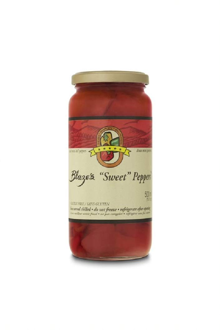 Blazes Sweet Peppers | The Best Damn Spicy Bell Peppers | Sweet Mini Bell Peppers | 1 Jar (16 oz)