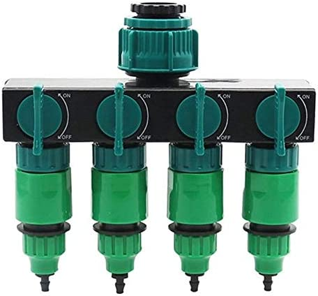 KUQIQI ガーデン灌漑システム4ウェイタップホーススプリッタガーデンドリップ4/7または8/11ホース継手パイプコネクタ灌漑セットのじょうろ,安い (色 : A)